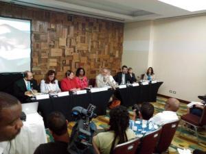 Comisión CIDH en Rueda de Prensa.  Foto: Maribel Nuñez
