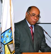 Milton Ray Guevara, Presidente del Tribunal Constitucional durante la conferencia dictada en UNIBE