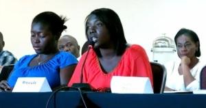 Mirella Libe en la reunión con CIDH