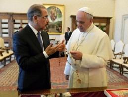 Danilo Medina y Papa Francisco Reunion 0614