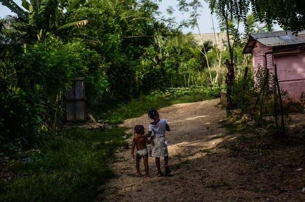 Young girls at risk of being deported from the Dominican Republic. Credit Meridith Kohut for The New York Times
