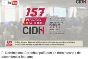 """Vídeo audiencia temática CIDH """"Derechos políticos dominicanos de ascendenciahaitiana"""""""