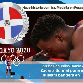Medalla de plata para República Dominicana: Zacaria Bonnat pone en alto nuestra bandera enTokio